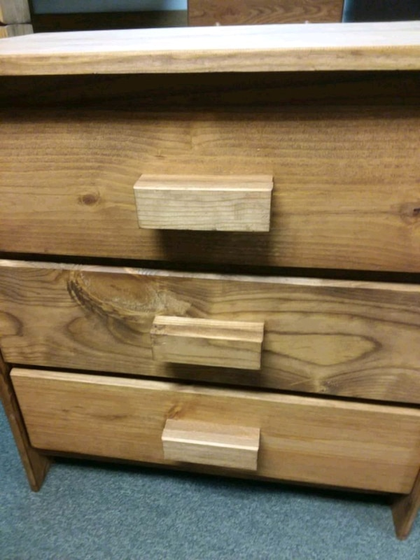 Used 3 Drawer Solid Wood Chest For Sale In Rochester Letgo