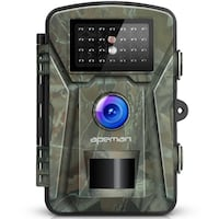 """Trail Camera 12MP 1080P 2.4"""" LCD Game&Hunting Camera with 940nm Upgrading IR LEDs Night Vision up to 65ft/20m IP66 Spray Water Protected Design New York, 10018"""