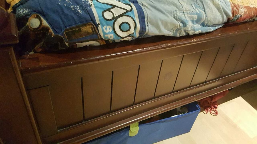 used pottery barn bed frame mattress not included in san jose