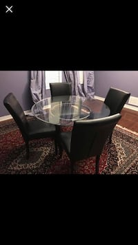 round glass top table with four chairs dining set Ajax, L1Z 1N2
