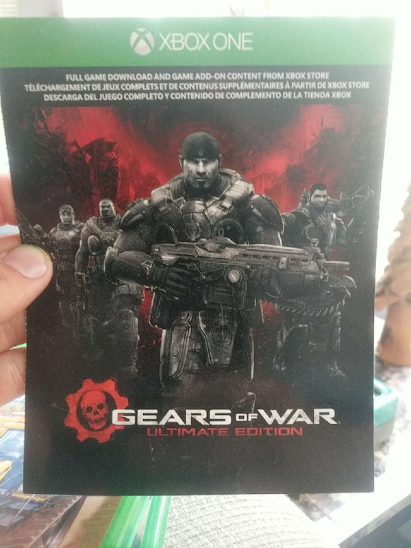 Xbox One Gears of War Ultimate Edition game case