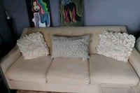 Apartment sized creme colored couch Bowie, 20715