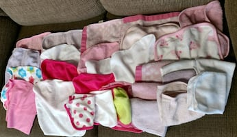 Baby hooded towels and wash cloths - LOT