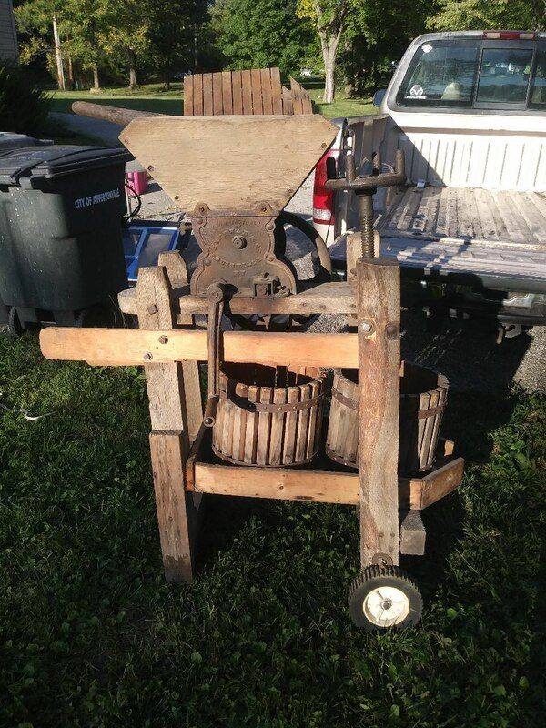 Cider Press For Sale >> 1800 S Kentucky Buckey Cider Press