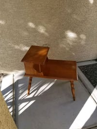 vintage mid century modern 2 tier end step table wooden  Las Vegas, 89149