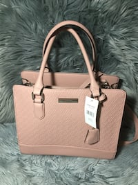 Women's brown leather 2-way bag