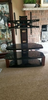 black glass-top TV stand Barrie