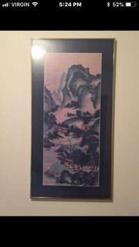Asian scenery print. Edmonton, T5Y