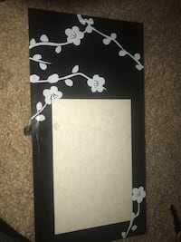 black and white floral photo frame Greenville, 29615