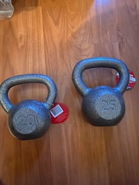 Kettlebells - 20 and 25 Pound