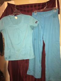 Blue scrubs sizes small and xs .  Jacksonville, 32221