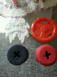 Bullymake tuff dog toys, to tuff for our little dog.5 each