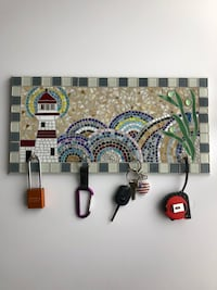 "Key holder 20"" x 10"", mosaic"