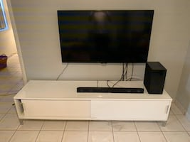 """Samsung 55"""" TV LED widescreen and Samsung - 2.1-ChannelSoundbar System"""