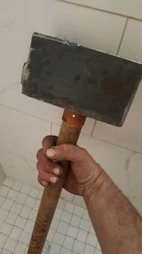 Hand made Solid head mid-carbon steel hammer