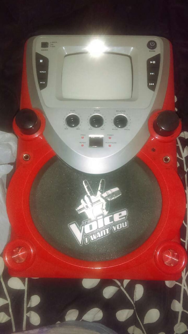 used red and black voice i want you karaoke machine for sale in tucson letgo. Black Bedroom Furniture Sets. Home Design Ideas