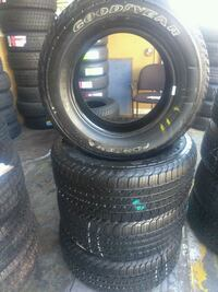Semi new set of 4 tires P245/65/R17 GOODYEAR FORTE Huntington Park, 90255