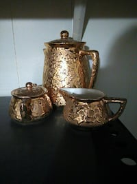24 carot gold plated tea, suger, and creamer set Jacksonville, 32246