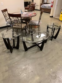 Glass top 3pc coffee table set brand new big sale firm price Jacksonville, 32216