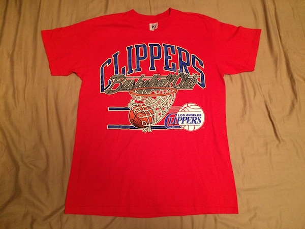 Used Vintage La Los Angeles Clippers Nba Basketball Shirt For Sale
