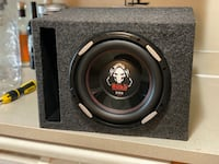 Boss phantoms 10 inch subwoofer with slot box