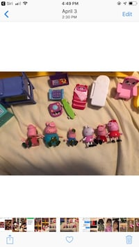 Peppa pig and accessories, extra pigs more $
