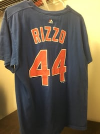Chicago Cubs Rizzo Jersey Shirt #44 Large Majestic 372 mi