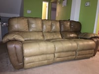 brown leather 3-seat sofa Fairfax, 22032