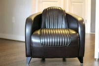 black leather padded sofa chair Reston, 20190