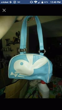Authentic Blue Playboy Bunny Purse.