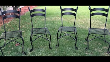 Pier 1 Imports Wrought Iron Chairs with their cushions - 4 chairs