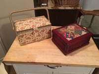 Set of 2 sewing boxes  Rockville