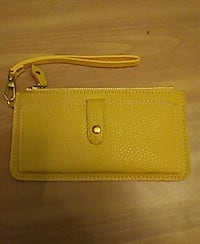 yellow leather wristlet Valley, 36854
