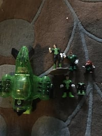 Green Latern plane and action figures all for $10 Arlington, 22207