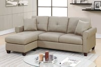 Brand New Beige Linen Sectional Sofa Couch  Silver Spring, 20902