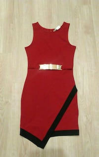 red and black sleeveless mini dress with black tri, Baltimore, 21202