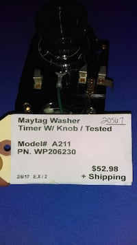 Maytag Washer Timer with Knob Columbus, 43206