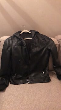 black leather zip-up jacket Toronto, M4T 1B9
