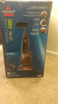 black and blue Bissell upright vacuum cleaner box Greenbelt, 20770