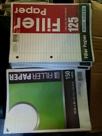 125 pages of filler paper and binders Oklahoma City, 73106