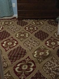 Brown and white floral area rug Falls Church, 22046