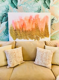 Oliver Gal gold brush strokes canvas picture Fort Lauderdale, 33312
