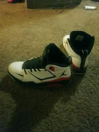 pair of white-and-black Nike basketball shoes Columbus, 43229