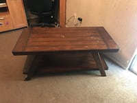 Brown wooden framed black wooden table Waco