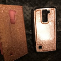 two gold glitter smartphone cases Gainesville, 76240