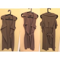 Nude Brown Long Sleeveless Trench Coat from M Boutique Markham, L3S 4C6