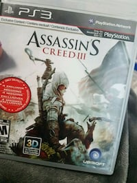 Assassin's Creed 3 PS3 game case Calgary, T2Z 0A2
