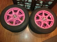 RTX RIMS WITH TIRES HOT PINK $325 OBO Hamilton, L8H 5K4