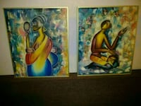 2 vibrant paintings. Modern colours 20 × 24 inch Toronto