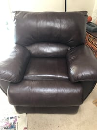 Brown leather recliner sofa chair Jacksonville, 32224